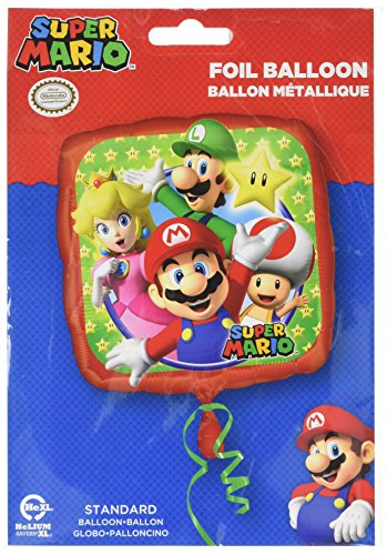 Anagram 17 Inch Square Foil Balloon - Super Mario for $<!--$2.99-->