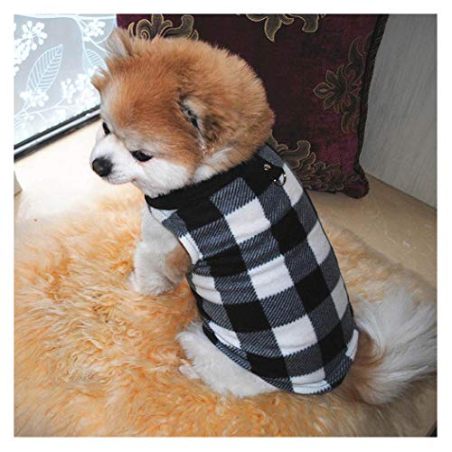 Petea Cozy Dog Clothes British Style Plaid Dog Vest Winter Villi Coat Warm Pet Puppy Apparel for Dogs and Cats