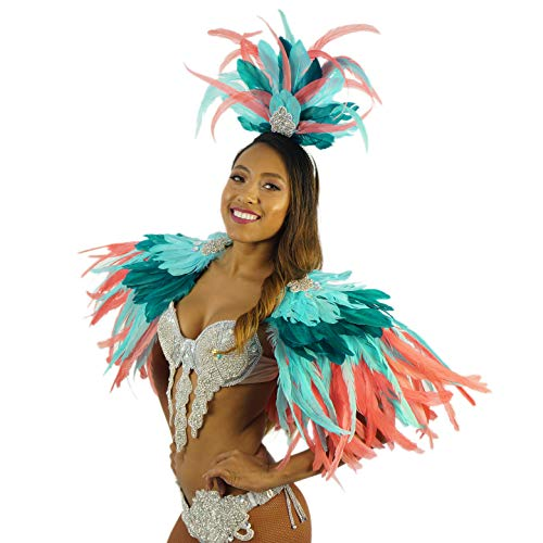 Tropical Feather Carnival Mardi-Gras Costume - Sexy Cosplay,Halloween, Parade Outfit]()