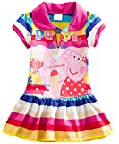 Little Girls Clothes Cartoon Flowers Embroidery Cotton Dresses for Girls 1-6 Years