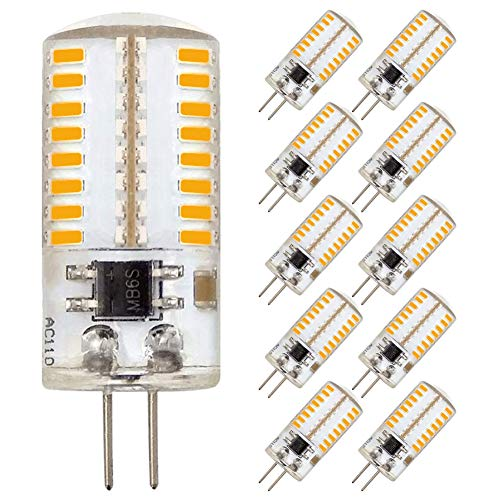 ZHENMING G4 LED Bulb Bin-pin LED Light Bulb 3W(30W Halogen Equivalent) 360 Lumens 110V 120V Warm White 3000K(Pack of 10)