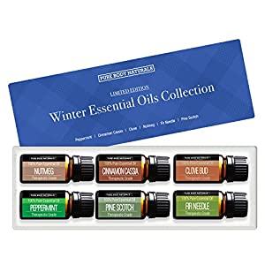 Pure Body Naturals Limited Edition Winter Essential Oils Gift Set