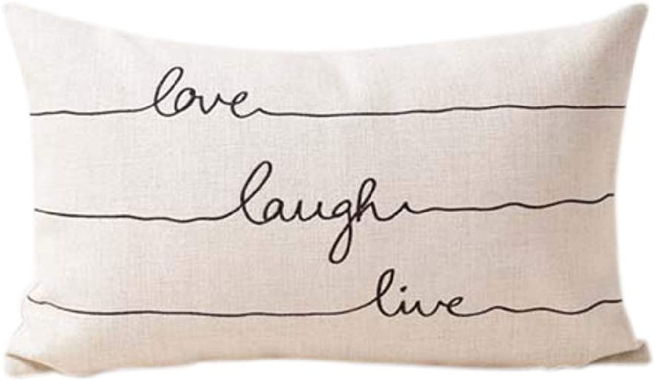LaLe Living 30 x 50 cm Decoración Funda de cojín Love Laugh Live ...