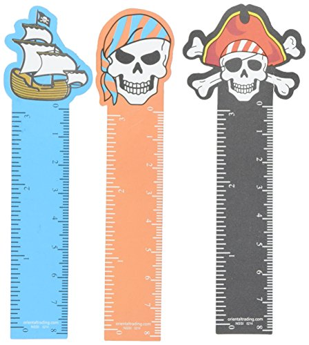 Bookmarks Pirate (FX ~ 12 ~ Pirate Ruler Bookmarks ~ Approx. 5
