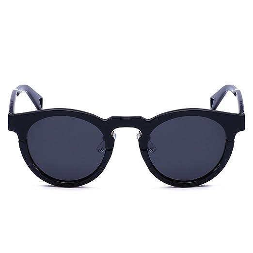 WKAIJC Sonnenbrille Polarisiert Sonnenbrille Reflektierende Farbfilm Eltern Sonnenbrille Mode Persönlichkeit Runde Schachtel,C