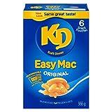 Kraft Dinner Easy Mac Original Macaroni & Cheese Snack Pouches, 6 Pouches