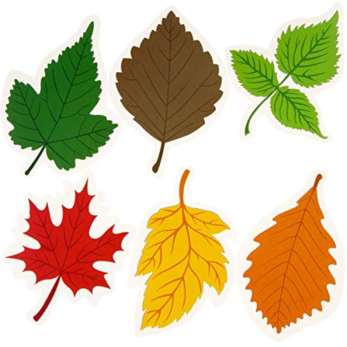 Leaf Cutout 36PCS Colorful Leaves for Thanksgiving Leaf Accents Craft School Decoration