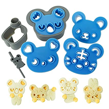 Amazon CuteZCute Sandwich Cutter And Cookie Stamp Kit Cuddle