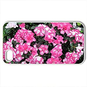 Tulips are spring-blooming 28 - Case Cover for iPhone 4 and 4s (Flowers Series, Watercolor style, White)