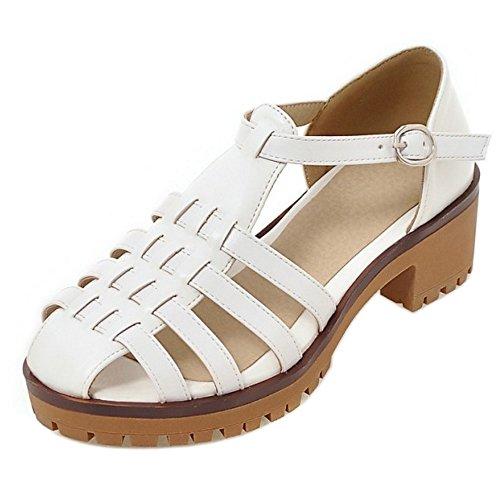 Coolcept Women Fashion Heel Sandals Gladiator White T8zcN