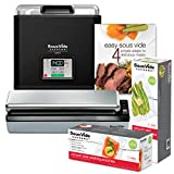 SousVide Supreme Demi Water Oven 9-Liter System Complete with Vacuum Sealer, Cookbook and over 50 Sealer Bags- Black Enamel