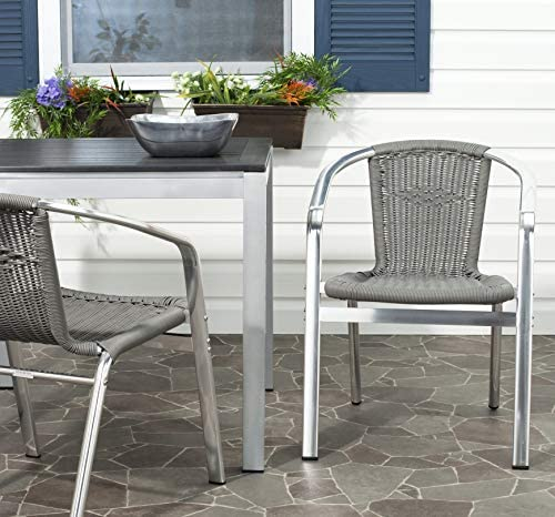 Safavieh Home Collection Wrangell Teal Indoor-Outdoor Stacking Arm Chair