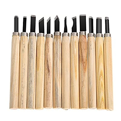 12pcs/lot Hand Wood Carving Chisels Knife For Basic Woodcut Working DIY Tools -All U Need
