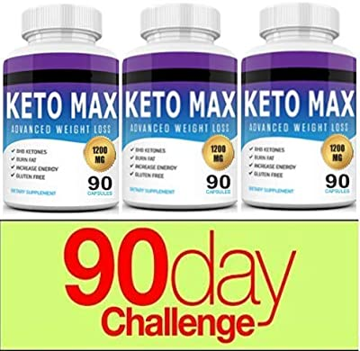 Keto Diet Pills 1200mg- (90 Day Supply) Weight Loss Fat Burner for Women & Men, Perfect Exogenous Ketones Supplement Burners