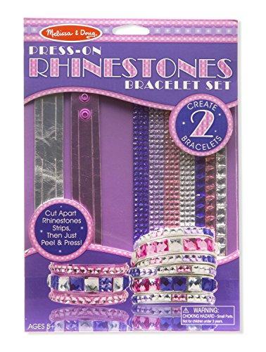 Melissa & Doug Press-On Rhinestones Bracelet-Making Set (Makes 2 (Full Rhinestones Snap)