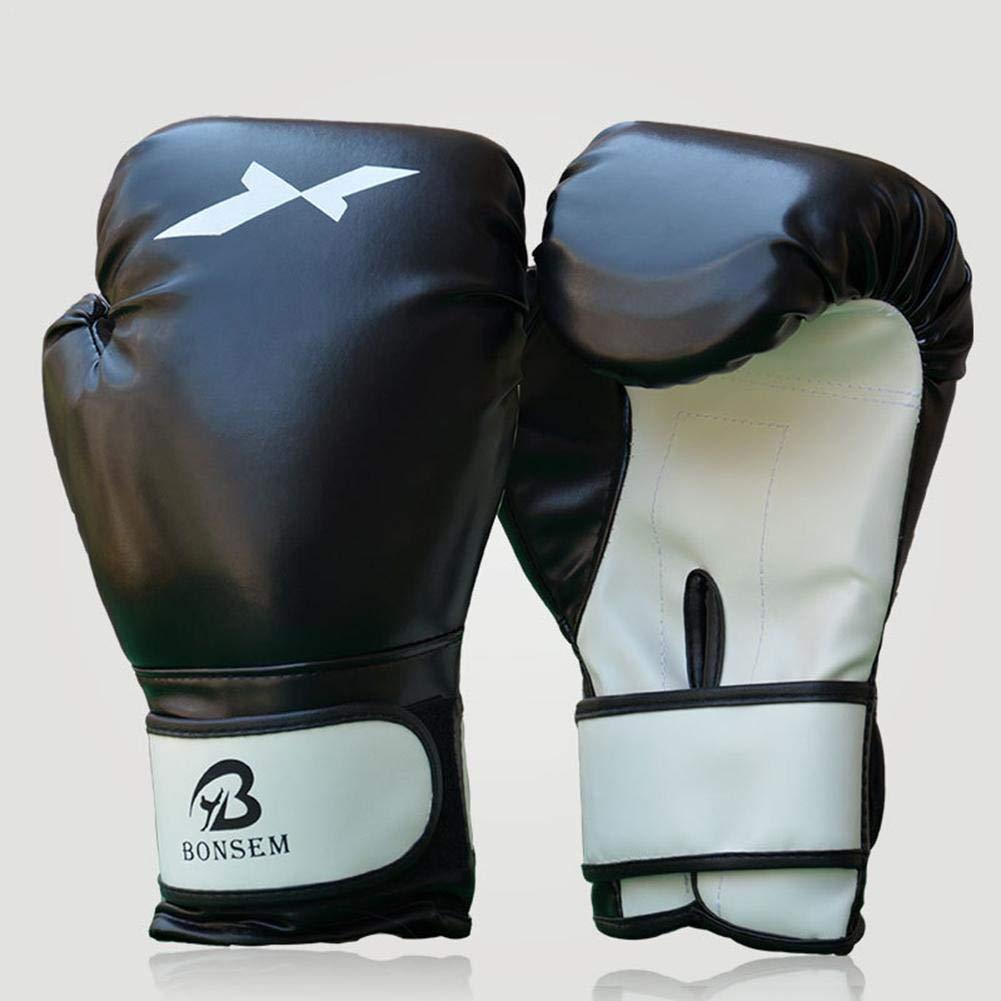 Owlhouse ボクシンググローブ トレーニング パンチングボクシンググローブ PUレザー タイ スパーリング キックボクシング ファイティングパンチバッグ フォーカスパッド タイ ボクシング トレーニンググローブ メンズ レディース 子供用 ブラック B07LFVCDS6 ブラック
