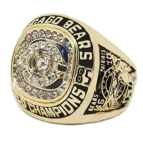 MVPRING Super Bowl Championship Ring:Philadelphia Eagles Patriots Chicago Bears Broncos Seahawks Baltimore Ravens Saints Buccaneers Redskins 49ers Chiefs (1985 Chicago Bears)