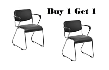 Nice Goods Fabric Visitor Chair (Black)