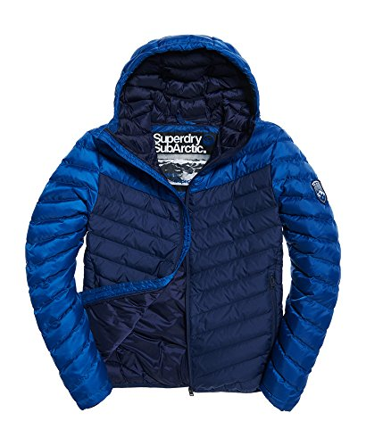 Classic Navy in Chevron Jacket Down Colour Block Superdry RnvwqY00
