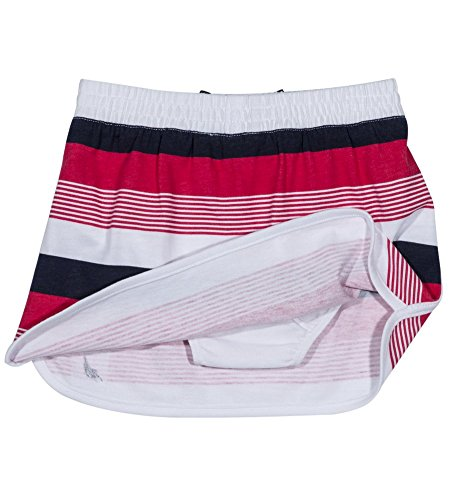 Nautica Girls' Toddler Pull on Fashion Skort, Light red Stripe, 4T]()