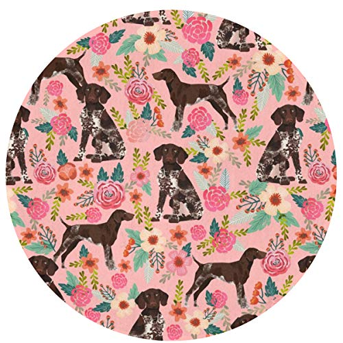 German Shorthaired Pointer Floral Pink Dogs Fabric Cute Floral Design for Pointer Owners_231 Non-Slip Bathroom Bath Rug Outdoor Indoor Door Mat Easy Clean Washable