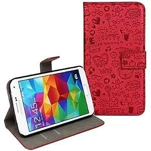 HP-Faerie PU Leather Case cuerpo completo con la correa y pegatinas para Samsung Galaxy S5