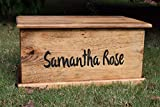 Cheap Laser Engraved Personalized Kids Toy Box – Engraved Toy Box – Personalized Toy Box – Children's Toy Box – Kids Memory Box – Gift for Kids – Wood Toy Box – Treasure Chest