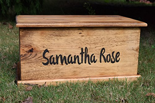Laser Engraved Personalized Kids Toy Box - Engraved Toy Box - Personalized Toy Box - Children's Toy Box - Kids Memory Box - Gift for Kids - Wood Toy Box - Treasure Chest ()