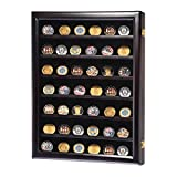 Display Cabinet Wall Box Coin Military Challenge Frame Wood Case Casino Chip Shadow