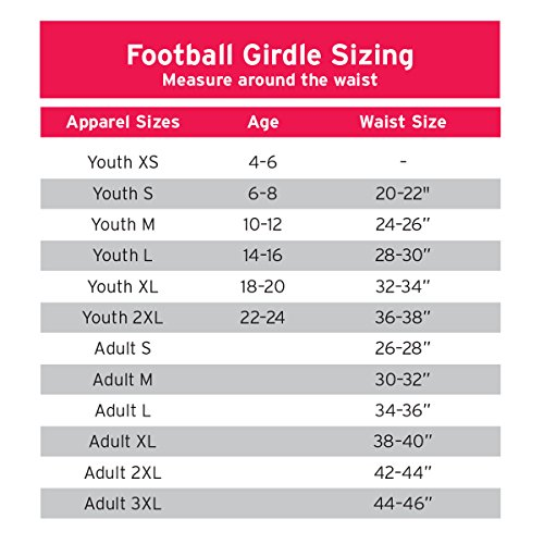 Cramer Classic 5-Pad Football Girdle, Youth