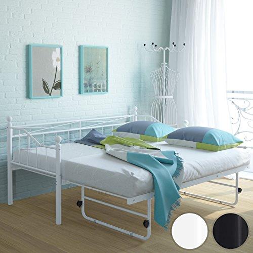 Miadomodo Letto singolo per soggiorno divano letto metallo con ...