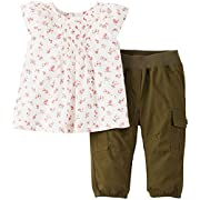 Carter's 2 Piece Tunic Set (Baby) - Olive-12 Months