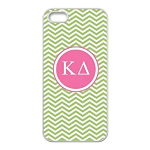 Cute TPU Case Kappa Delta Green Chevron iPhone 4 4s Cell Phone Case White