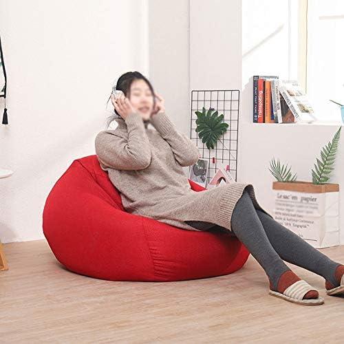 RKRGQ Reißverschluss Sitzsack Startseite Kinder Sitzsäcke Ergonomisches Design Sofa, Für Kinder, Erwachsene, Schlafzimmer, Wohnzimmer - Mehrere Farben Zur Auswahl (Color : Gray, Size : 31.5x35.4in)