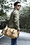 MiCoolker Men's Casual Satchel Bag Canvas Military