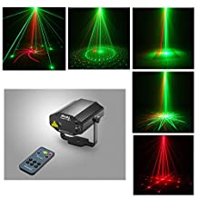 Sumger New IR Remote RG DJ Laser Stage Lighting 8 Patterns With DualEffect Laser Projector Red Green Party Disco Led Stage Light Entertainment