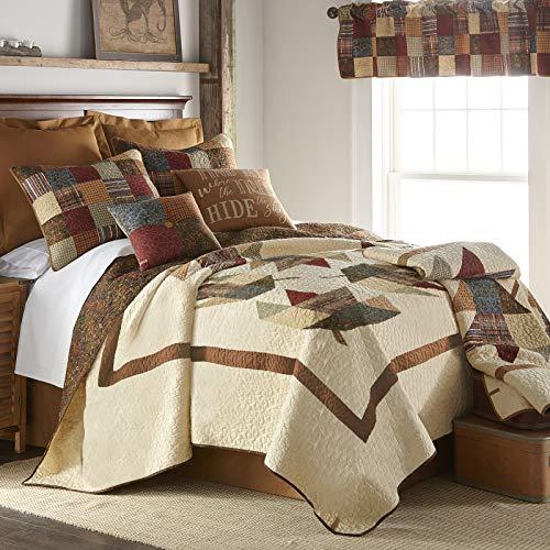 Donna Sharp Maple Leaf Cotton Quilt 3pc Set, King ()
