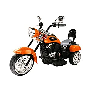 Trike Motorcycle Powered Wheel Ride on Motorcycle for Kids, 1- 3 Year Old -Orange