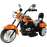 MIGOTOYS Trike Motorcycle Powered Wheel Ride on Motorcycle for Kids, 1-3 Year Old -Orange