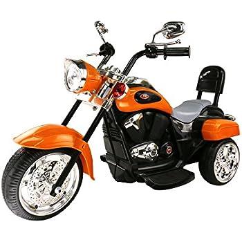 Trike Motorcycle Powered Wheel Ride on Motorcycle for Kids, 1- 3 Year Old -Orange
