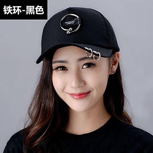 Gorra Yxlmz Iron Pink Mujer De Holes Ring Black Ajustable Béisbol Para Hfwdfq