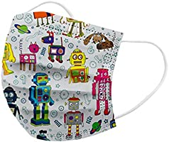 US Stock-Dheva 50PC Children & Adult Disposable Face_Mask 3-ply Fashion Printed Face Mouth Protection Dust Haze...