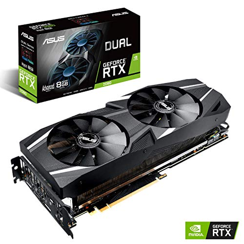 - ASUS GeForce RTX 2070 Advanced Overclocked 8G GDDR6 Dual-Fan Edition VR Ready HDMI DP USB Type-C Graphics Card (DUAL-RTX2070-A8G)