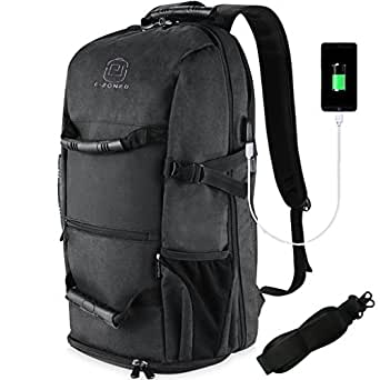 Amazon.com: E-ZONED Travel Backpack with Shoes Compartment