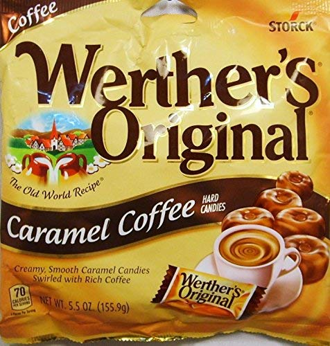 Werther's Original Caramel Coffee Hard Candies 70 Calories per Serving (5.5 Ounce, 3-Pack)