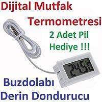 Robotekno Dijital Mutfak Termometresi Sıcaklık Ölçer Problu Termometre
