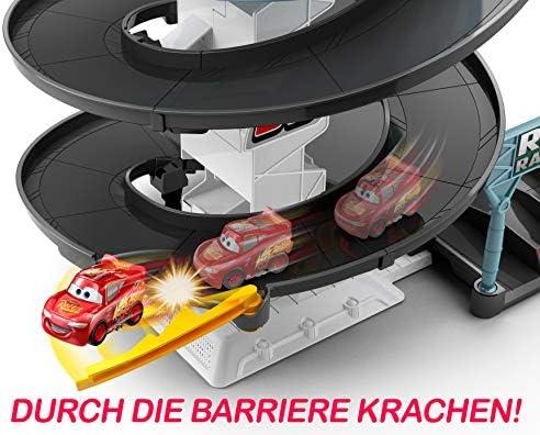 Disney Cars FYN86 - Rust-Eze Dreh-Action-Rennbahn Spielset