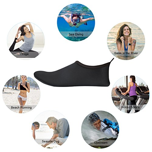 Unisexe Diving Enfants Et De Noir Plage Pour Plongée Aquatiques Sport Swimming Adultes Yoga Natation Piscine Chaussure Kivors Fdwx7HqH