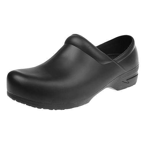 MagiDeal Sandali Pantofole Pattini Scarpe Di Sicurezza Antiscivolo Olio Prova Impermeabile Per Uniforme Cucina Cuoco Chef Uomo - Bianca, 40