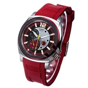 Casio MTP1316B4A2 - Reloj de Caballero caucho Rojo